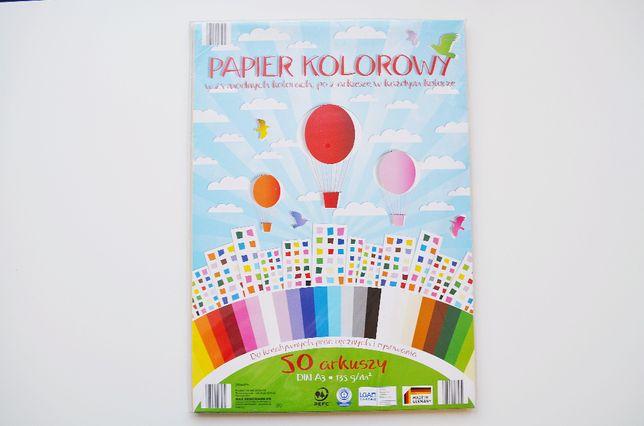 Papier kolorowy do prac plastycznych scrapbooking