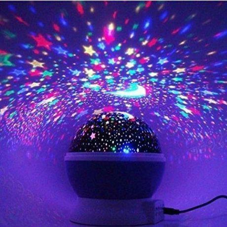 Ночники проекторы светильники Зведное небо и Луна новые в детскую комн