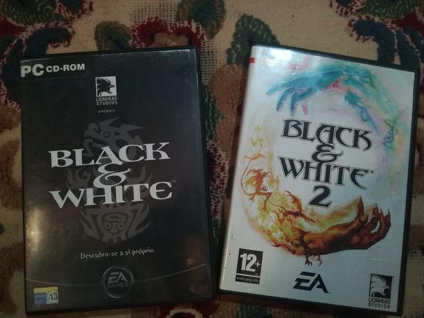 Jogos, black and white 1 e 2 para pc