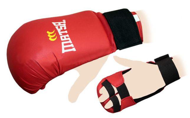 Накладки детские, перчатки для каратэ MATSA размер S самый маленький