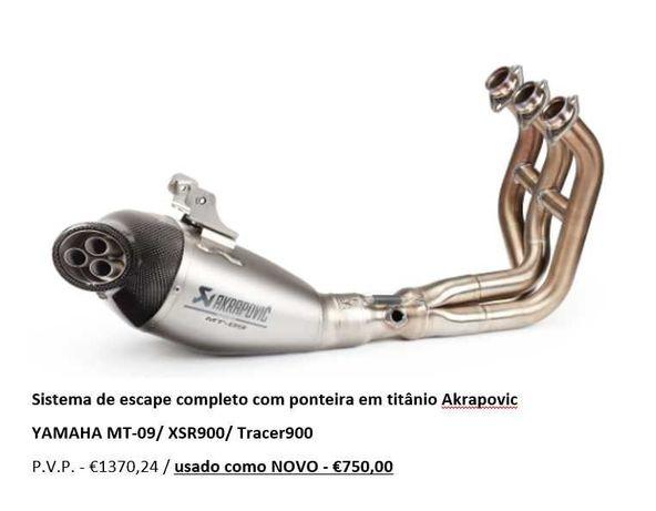 Escape AKRAPOVIC MT-09/XSR900/Tracer900 Homologado