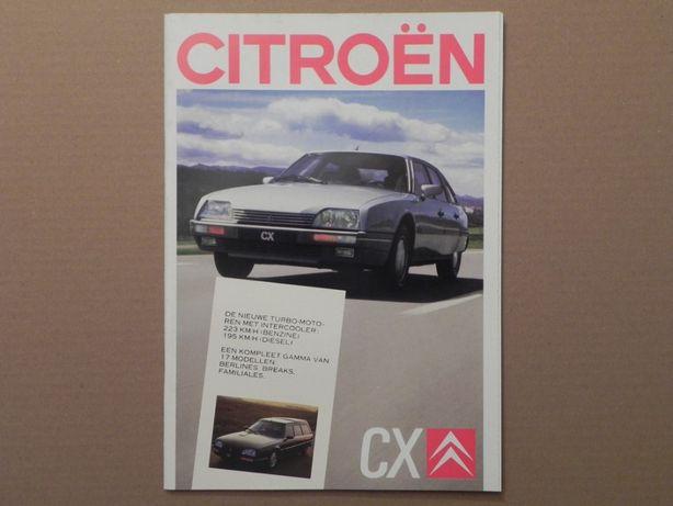 Prospekt - CITROEN CX - 1987 r