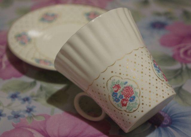 Кофейная пара костяной фарфор чашки блюдца