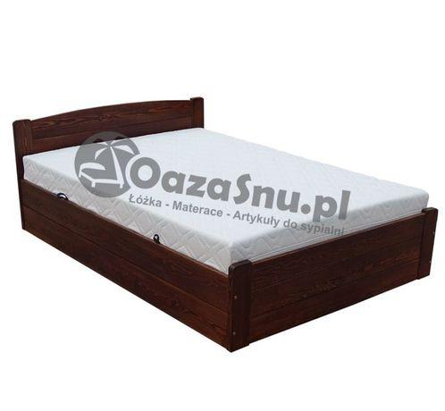 łóżko z pojemnikiem otwierane z boku stelaż elastyczny ONYX 160x220