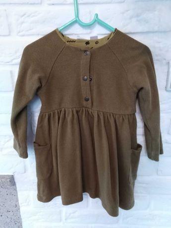 Sukienka Zara khaki/oliwka/musztarda 104