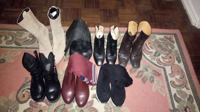 7 pares de botas diversificada