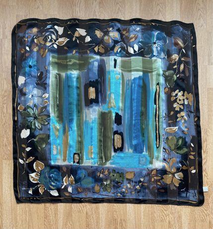 Шелковый платок ручной росписи, шовкова хустка