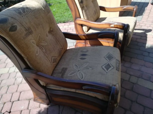 Fotele duże 2 sztuki