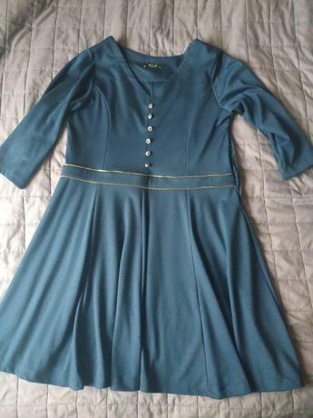 Платье тёмно-синего цвета
