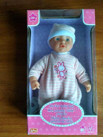Пупс (кукла) мягкий Lotus Onda розовый, 33см (модель 13960)