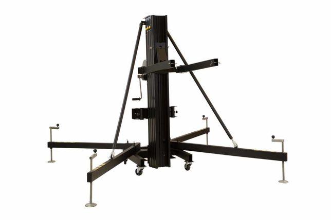 Suportes telescópicas ou carga frontal tipo Genie para PA, Iluminação