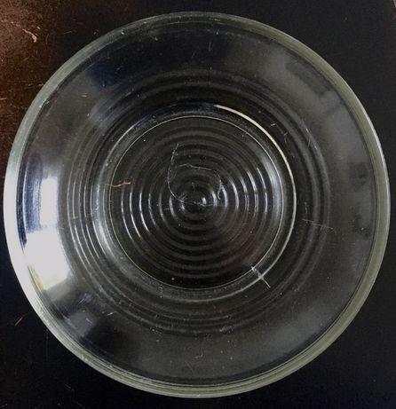 Duży spodek podstawka miseczka talerzyk do ogórków szkło sodowe PRL