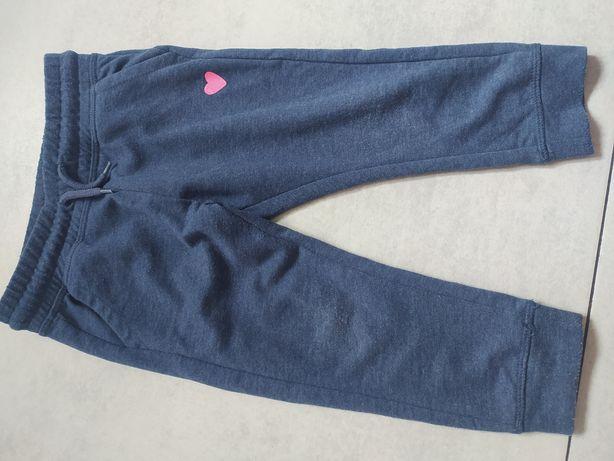 zestaw spodni dresowych legginsów getrów rozmiar 92