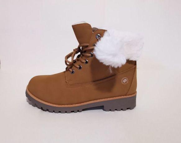 Ботинки на искусственном меху, эконубук 3 цвета