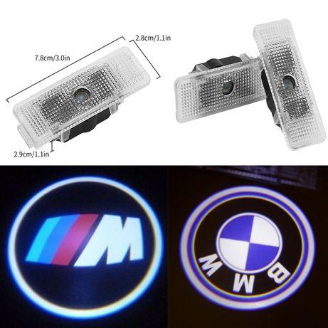 Штатная подсветка дверей c логотипом BMW.