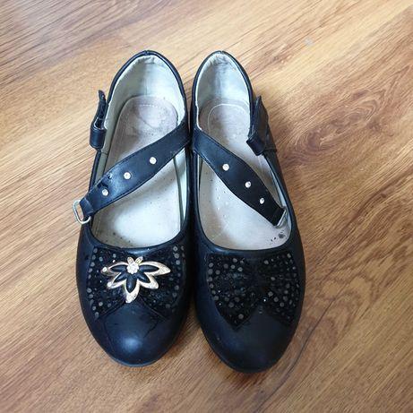Туфли детские черные  Кожаные