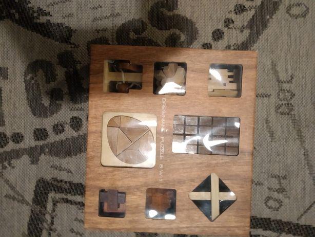 Klocki/łamigłówka drewniana geniuz 8w1 + darmowa przesyłka