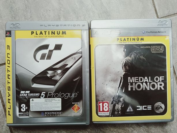 2 gry gran turismo 5 medal of honor ps3
