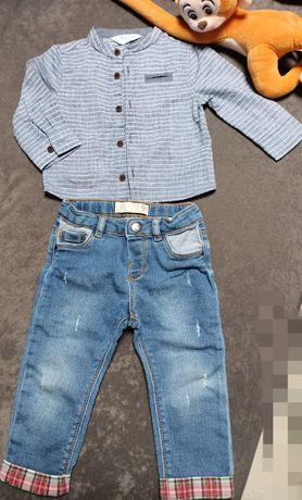 Koszula +jeansy zara
