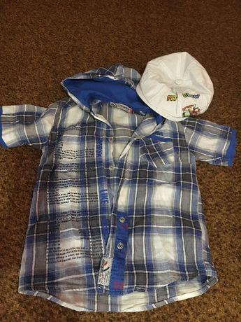 Рубашка с капюшоном Cegisa 110см кепка летняя в подарок