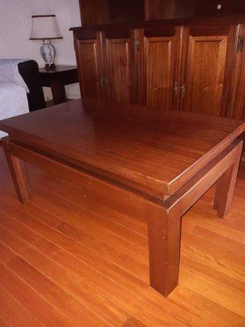 Mesa de centro + mesa de apoio, em MOGNO
