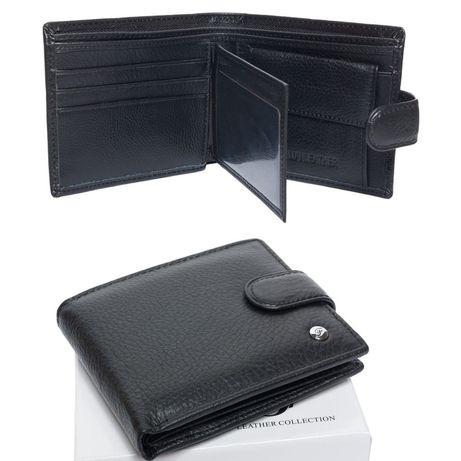 Мужской кожаный кошелек клатч гаманець F Leather
