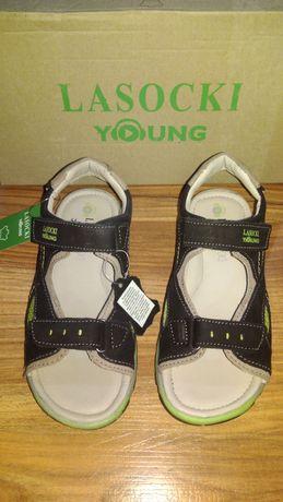 Sandały skórzane Lasocki Young nowe z metką r. 31