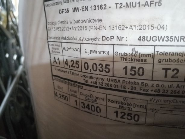 Wełna mineralna 150 mm