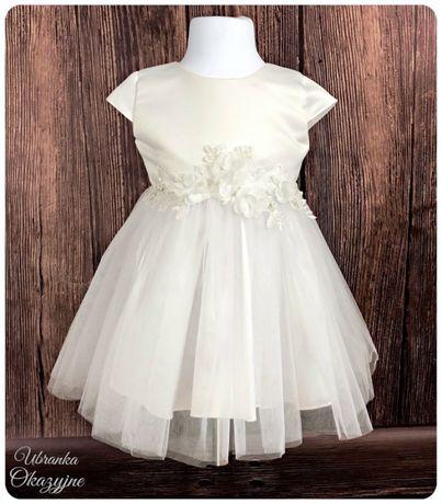 Sukienka do chrztu z opaską. Rozm 68