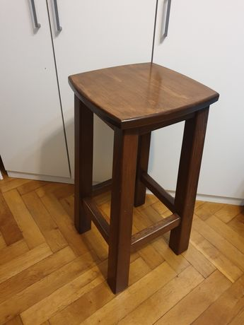 Hoker / Krzesło barowe z litego drewna