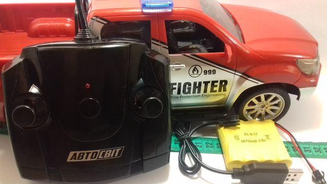 Радиоуправляемая модель пожарного джипа 1:12 на пульте аккум Автосвіт