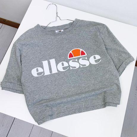 Кроп-топ Ellesse original S-M серый женский идеал большое лого