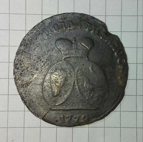 Монета 1772 год для Молдавии и Валахии