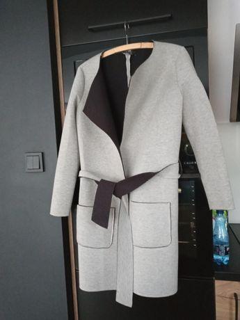 Płaszcz piankowy jesień szary s/m