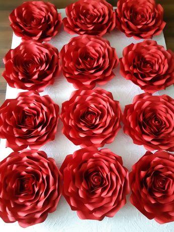 Roże z papieru typu Chanel 3D