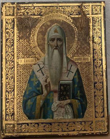 Икона св.Алексий 19 век Москва