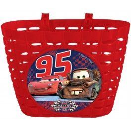 Kosz koszyk rowerowy dziecięcy plastikowy cars zigzag McQueen auta