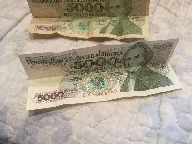 Banknoty 5000 PRL