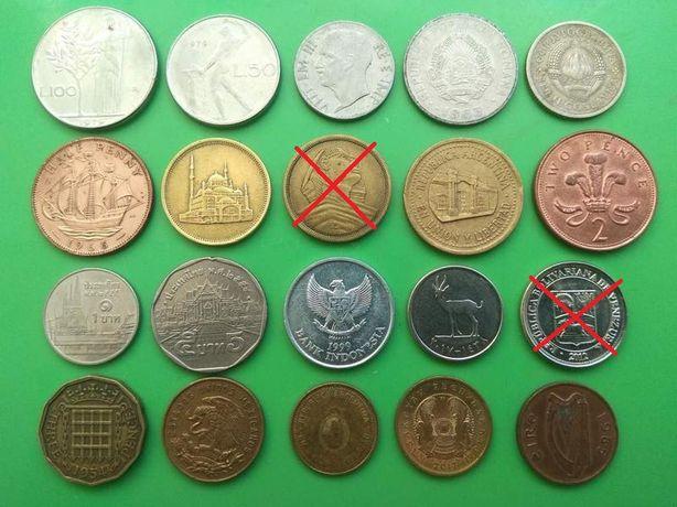 Монеты разных стран.