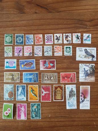 Lote de 35 selos de Israel todos diferentes