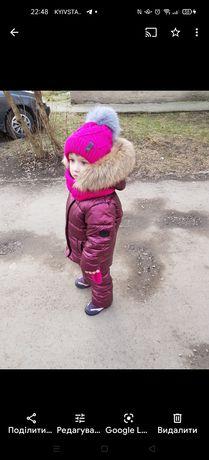 Зимовий комбінезон на 3-5 рочків
