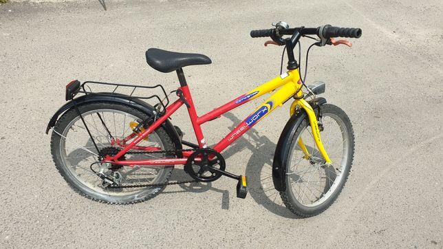 """Rower dla dziecka, młodzieżowy, kola 20"""", przerzutki"""