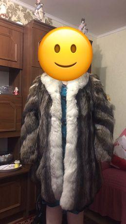 Шуба енота adolfo пальто/шуба