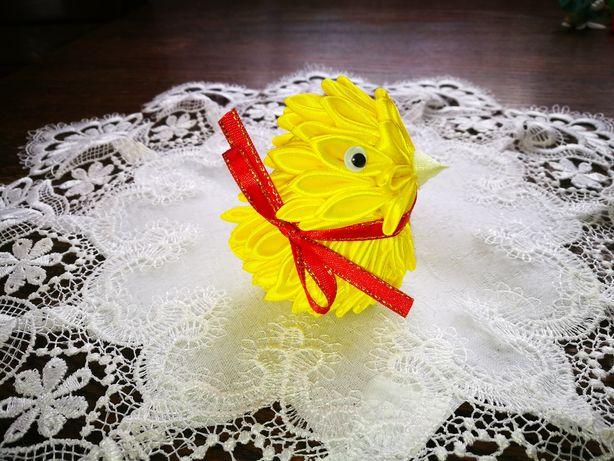 Kurczak wielkanocny ze wstążki, rękodzieło,handmade