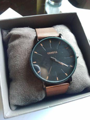 Zegarek Geneva bransoleta mesh złoty