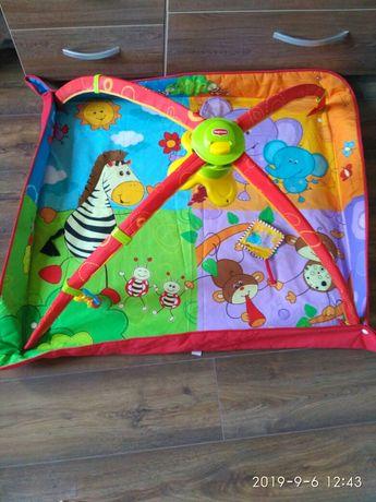 """Развивающий коврик с дугами 5 в 1 """"Разноцветное сафари"""" для детей с ро"""
