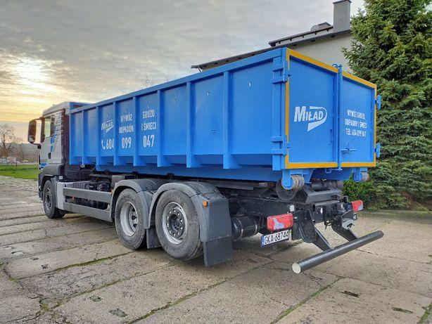 Kontenery na odpady gruz śmieci ziemię (BDO transport wywóz hakowiec)