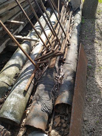 Трубы газовые в изоляции рубероидом