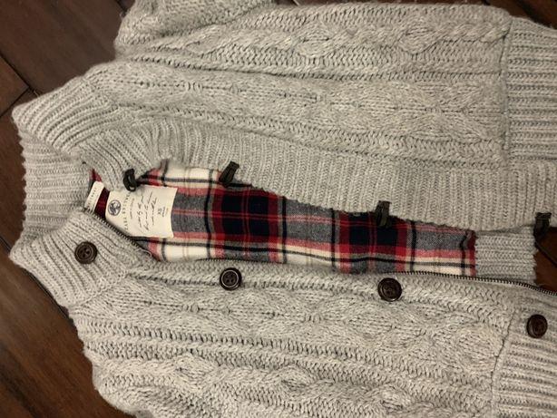 Sweter ciepły , kurtka wiosenna , zara r.110 dla chłopca