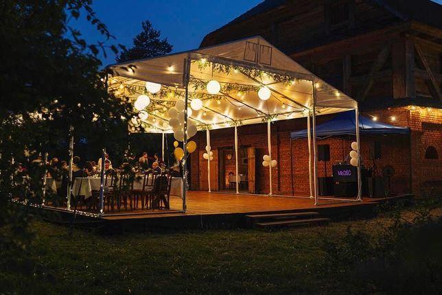 Wynajem namiotów plenerowych Wesela Komunie Bankiety Konferencje